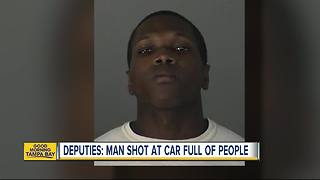 Deputies: Man wanted for shooting into car full of people - Video
