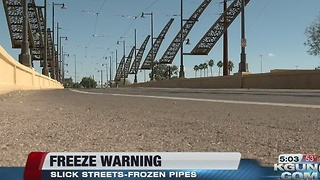 Crews to spray bridges in anticipation of icy roads - Video