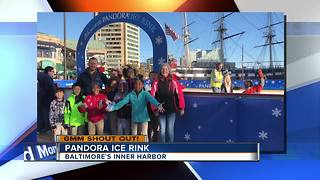 Good morning from skaters at the Pandora Ice Rink - Video