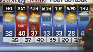 Autumns 7 First Alert Forecast for December 23rd 7 Eyewitness News at Noon - Video