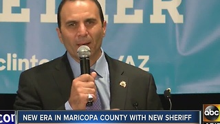 New Maricopa County sheriff takes office in private ceremony - Video