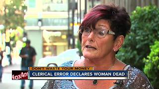 Woman declared dead by Social Security - Video