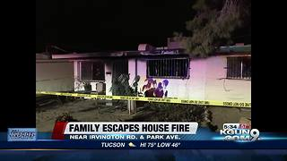 'Lucky' save after family escapes southside house fire - Video
