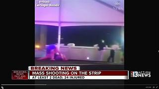 Mass shooting on Las Vegas Strip during concert - Video