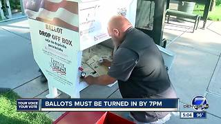 Primary election ballots being dropped off - Video