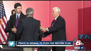 VP Mike Pence in Indiana to push tax reform - Video
