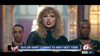 Taylor Swift coming to Indianapolis for September 2018 concert - Video