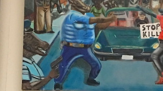 Cop-Hating Congressman Goes to Cops to Complain About Theft of Cop-Hating Painting - Video