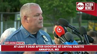 Officials give update on fatal shooting at Capital Gazette newspaper in Annapolis, MD - Video