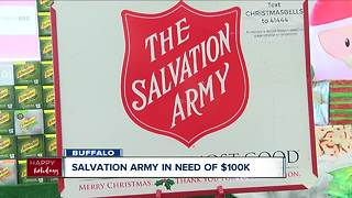 Salvation Army in need of $100K - Video