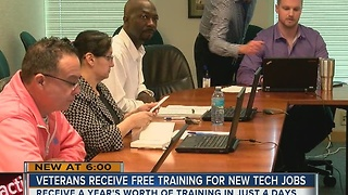 Veterans receive free training for new tech jobs - Video