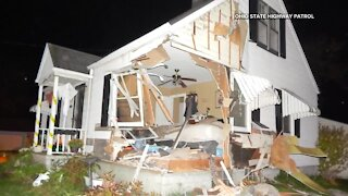 Teen injured after car launches into Ohio house