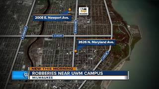 Armed Robberies Reported Near UWM - Video