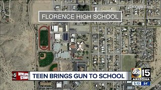 Student arrested for having gun on campus at Florence High School