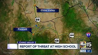Report of school threat at Chino Valley - Video