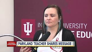 Parkland teacher shares message to college students studying to be teachers - Video