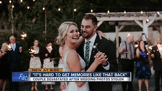 Couple devastated after wedding photos stolen