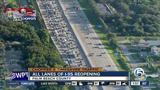 Heavy delays on I-95 SB after rollover crash - Video
