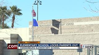 Elementary school locks parents out as safety precaution - Video