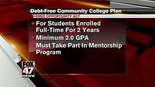 Debt-free community college plan - Video