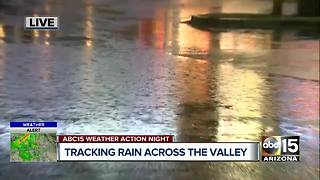 Team coverage of rain across the Valley - Video