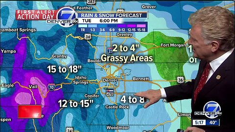 Soggy storm dumping heavy rain and snow over Colorado!