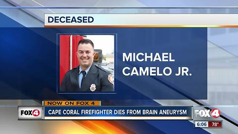Cape Coral fire engineer dies from brain aneurysm
