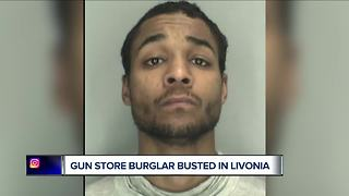 Gun store burglar busted in Livonia - Video