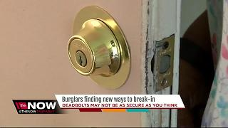 Burglars finding new ways to break-in - Video