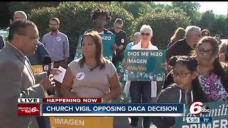 Church vigil opposing DACA decision - Video