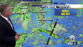 Tropical wave could make for wet Labor Day