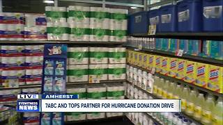 7ABC partners with Tops Markets for Hurricane Donation Drive - Video