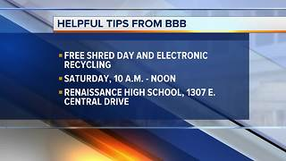 Safely dispose your sensitive documents at BBB's Free Shred Day - Video