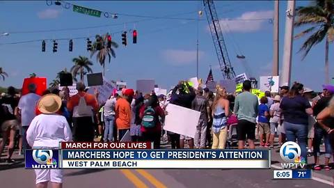 West Palm's March for Our Lives attempts to capture President's attention