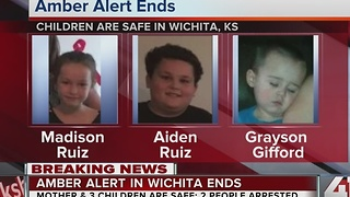 AMBER Alert canceled for missing Wichita children; 2 suspects in custody - Video