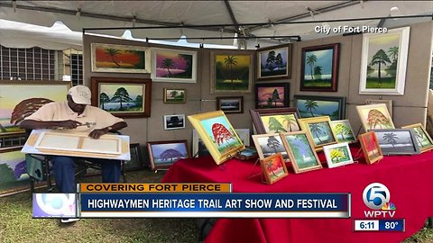 Highwaymen Heritage Trail art show and festival held in Fort Pierce