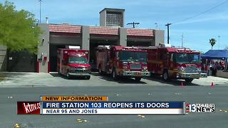 Las Vegas fire station reopens its doors - Video