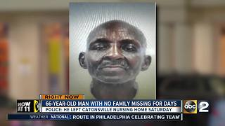 Police looking for man missing from nursing home