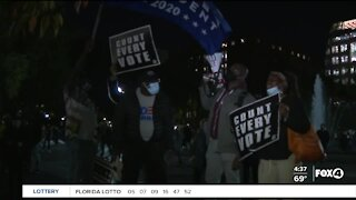 Count every vote protest continue