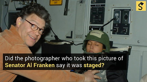 Did Franken Photog Say Groping Image Was Staged?