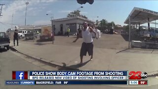 Bakersfield police body cam footage shows shooting