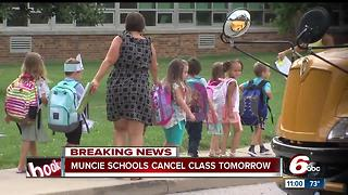 Muncie schools closed due to transportation issues on first day of class - Video