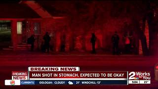 Man shot outside of his home overnight - Video