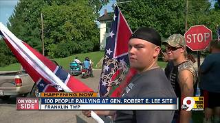 Demonstrators gather at former site of Robert E. Lee plaque - Video
