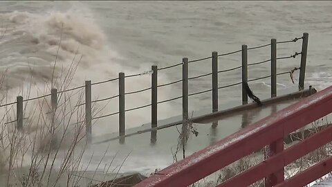 Residents along Lake Erie weary as winter storm brings huge waves, accelerating erosion