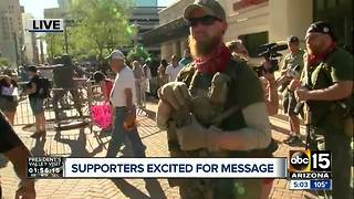 Armed men show up outside Donald Trump rally to