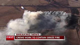 Grass fire burns north of Longmont