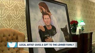Artist gives gift to the Officer Lehner family - Video