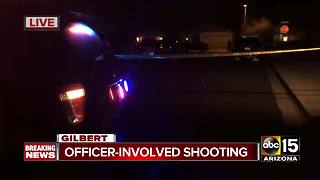 Police investigating officer-involved shooting in Gilbert - Video