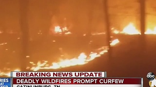 Deadly wildfires prompt curfew - Video